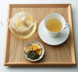 釜炒り茶(浅)りんご、オレンジ