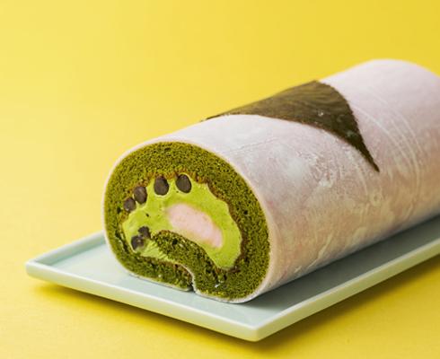 【春限定】春を感じる桜スイーツ「桜の抹茶ロールケーキ」